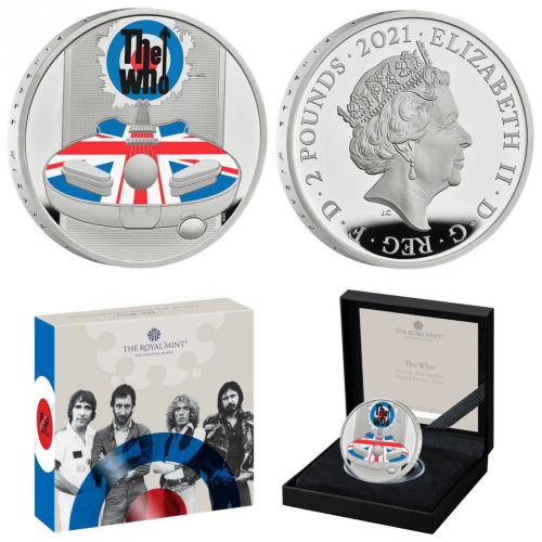 The Who Music Legends 1 Oz Ag proof coin