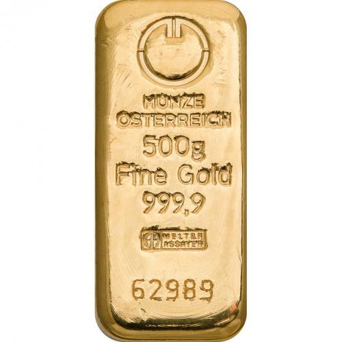 Zlatý slitek Münze Österreich 500 g