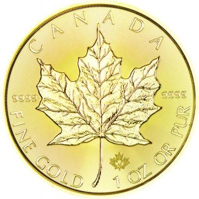 Maple Leaf 1 Unze Gold 2021 - zvìtšit obrázek