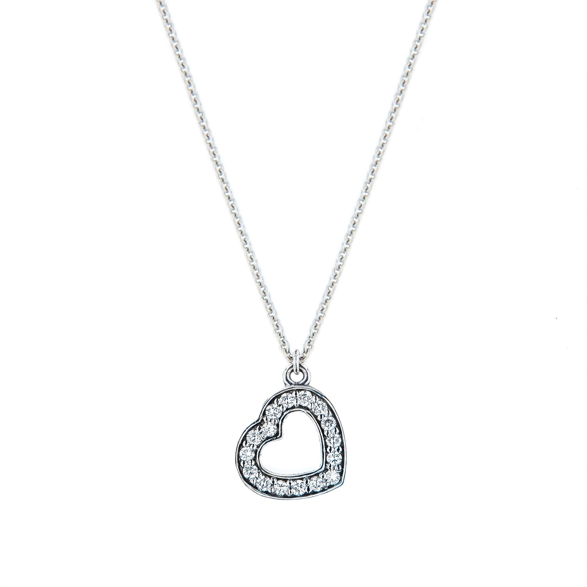 LOVE pøívìsek  ve tvaru srdce z bílého  14 karátového zlata - zvìtšit obrázek