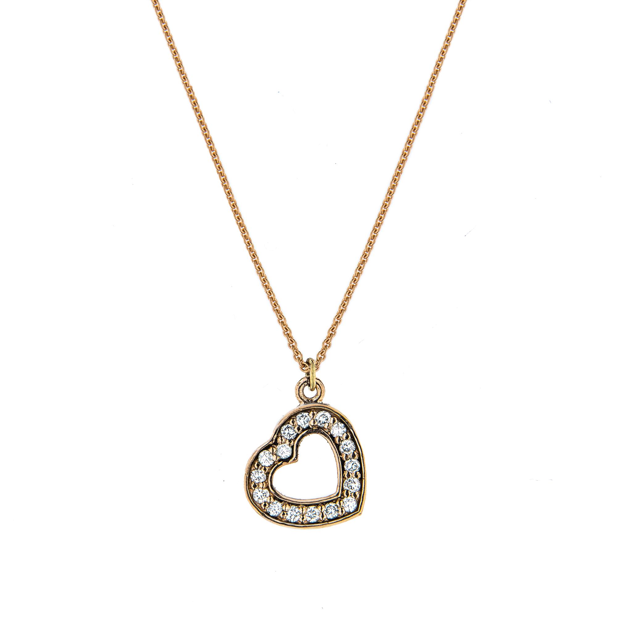 LOVE pøívìsek ve tvaru srdce vyroben ze  žlutého 14 karátového zlata  - zvìtšit obrázek