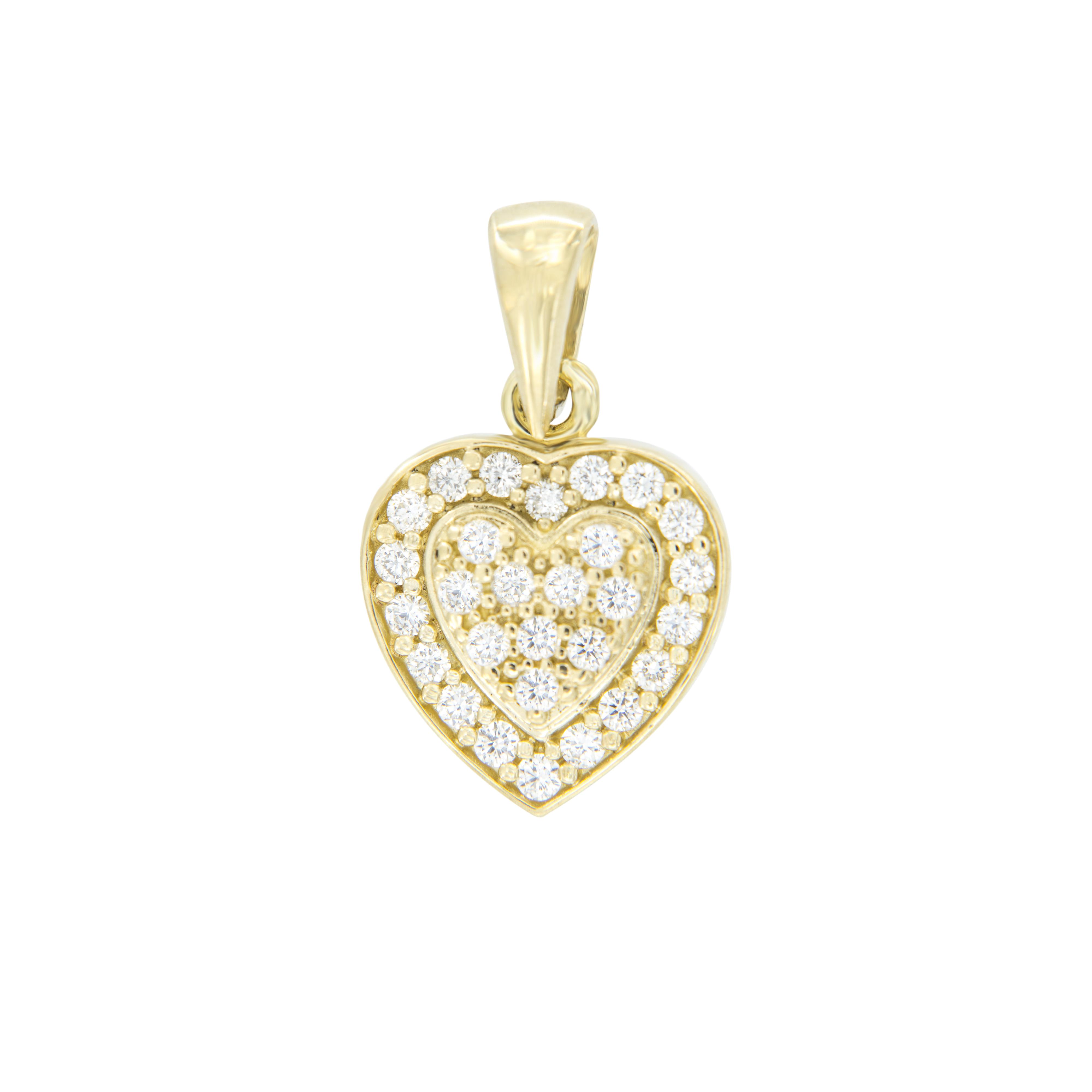 Pøívìsek Rapunzel ve tvaru srdce ze žlutého  zlata - zvìtšit obrázek