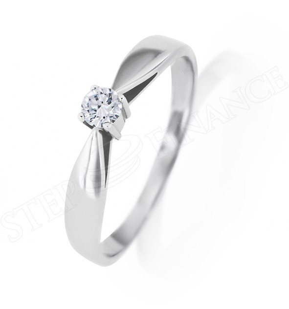 Zlatý diamantový prsten osazen pøírodním diamantem - zvìtšit obrázek