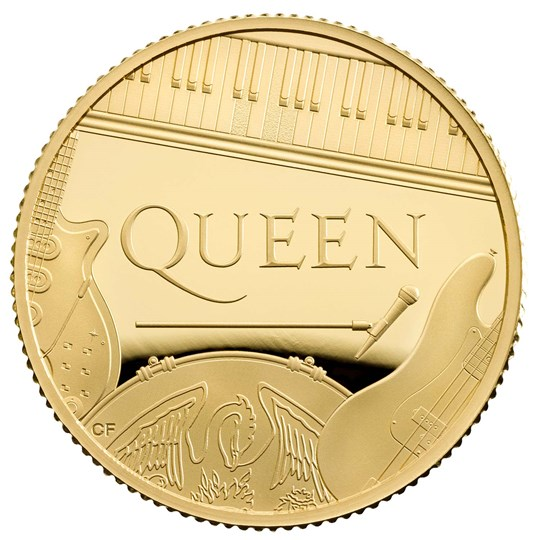 QUEEN Music Legends 1/4 Oz Gold Coin Proof 25 Pounds United Kingdom 2020 - zvìtšit obrázek