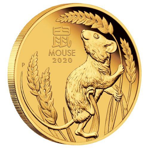 Australian Lunar Series III 2020 Year of the Mouse 1oz Gold Proof   - zvìtšit obrázek