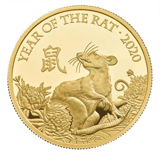 Lunar Year of the Rat 2020 UK One Ounce Gold Proof Coin - zvìtšit obrázek