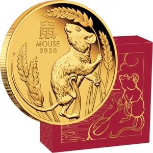 Zlatá mince Australian Lunar Series III 2020 Year of the Mouse 1/4 oz Gold Proof Coin - zvìtšit obrázek