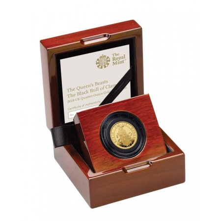 The Queens Beasts  The Black Bull of Clarence 2018 Gold Quarter Ounce   Proof - zvìtšit obrázek