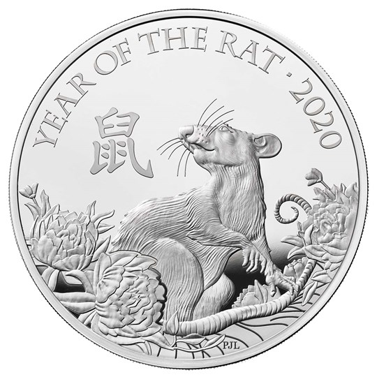 Lunar Year of the Rat 2020 UK One Ounce Silver Proof Coin - zvìtšit obrázek