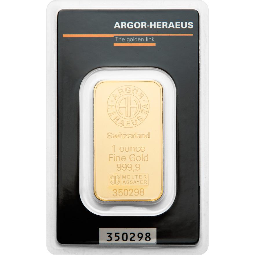 Zlatý slitek 1 x OZ Argor-Heraeus - zvìtšit obrázek