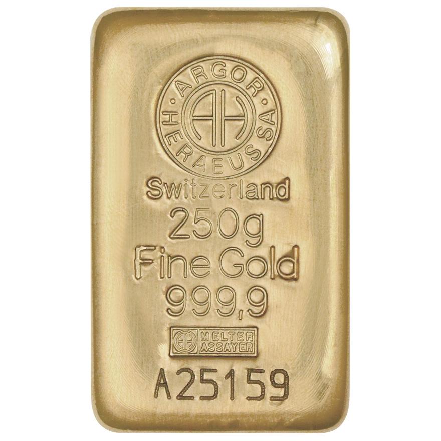 Zlatý slitek 250g Argor-Heraeus - zvìtšit obrázek