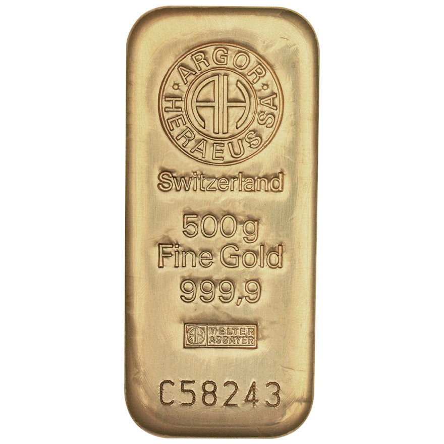Zlatý slitek 500g Argor-Heraeus - zvìtšit obrázek