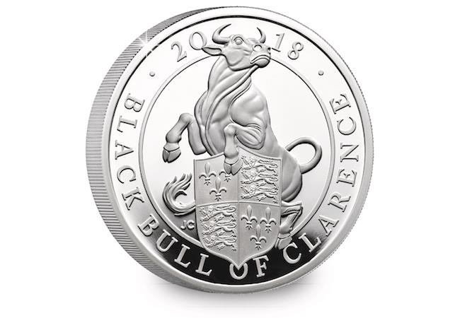 The Black Bull of Clarence 2018   One-Ounce Silver Proof Coin - zvìtšit obrázek