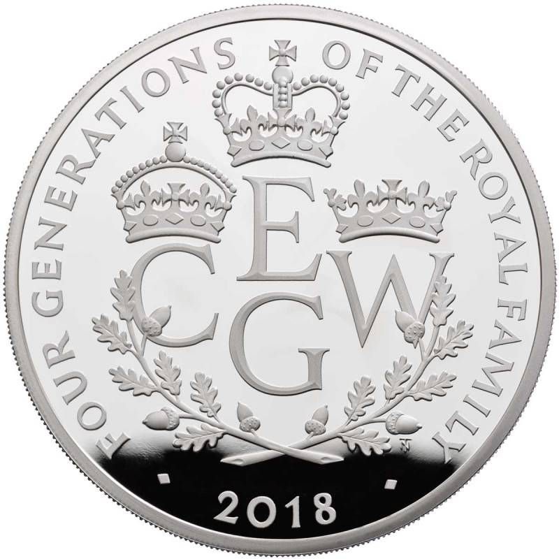 Four Generations of Royalty 2018  UK Silver Five-Ounce Coin - zvìtšit obrázek
