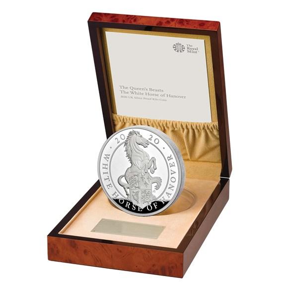 Støíbrná mince The White Horse of Hanover 1 kg Proof - zvìtšit obrázek