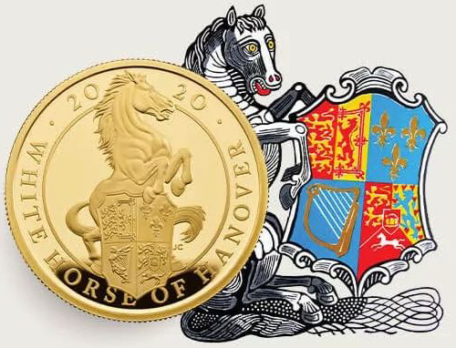 Zlatá mince The White Horse of Hanover 1/4 OZ Proof - zvìtšit obrázek