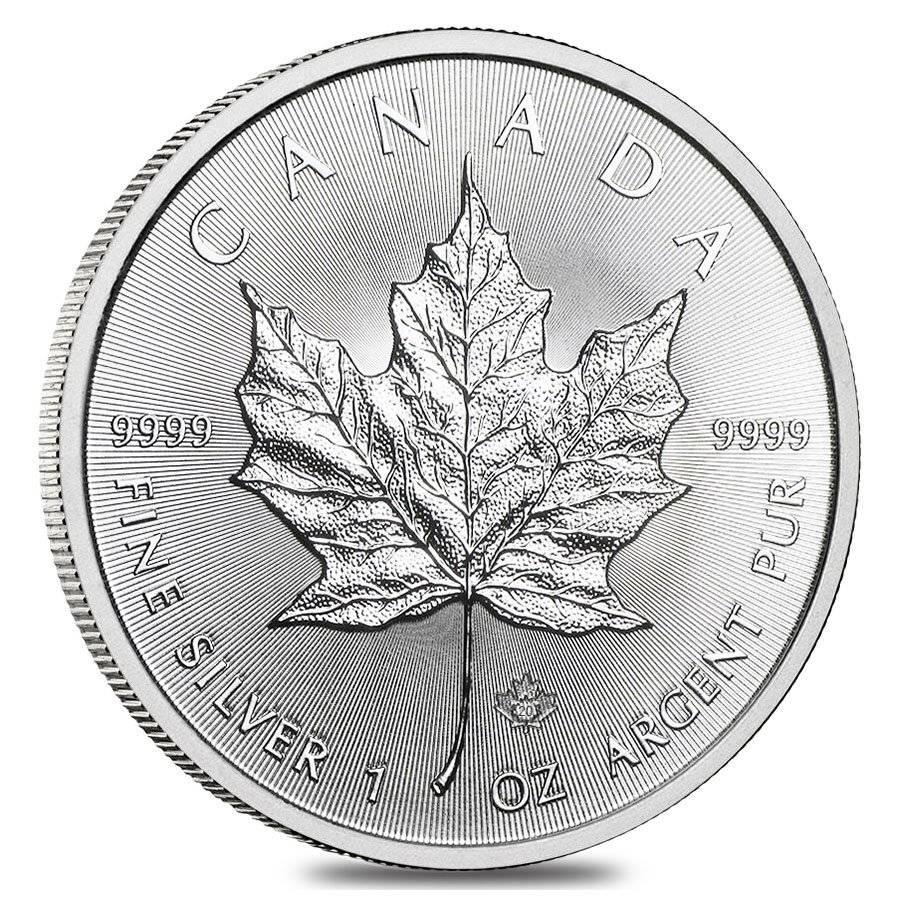 Maple Leaf 1 Unze Silber - zvìtšit obrázek