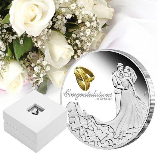 Congratulation Wedding 1 Oz silver coin  - zvìtšit obrázek