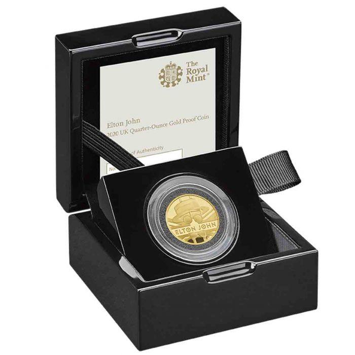 Elton John 2020 UK 1/4 Ounce Gold Proof Coin - zvìtšit obrázek