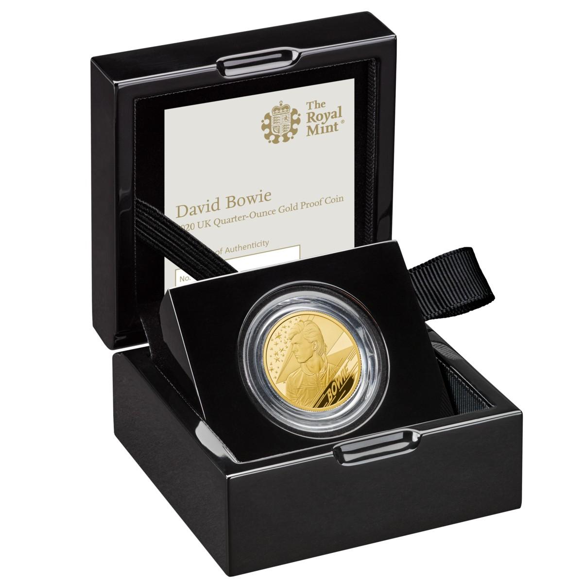 David Bowie  Music Legends 1/4 OZ Gold Coin Proof - zvìtšit obrázek