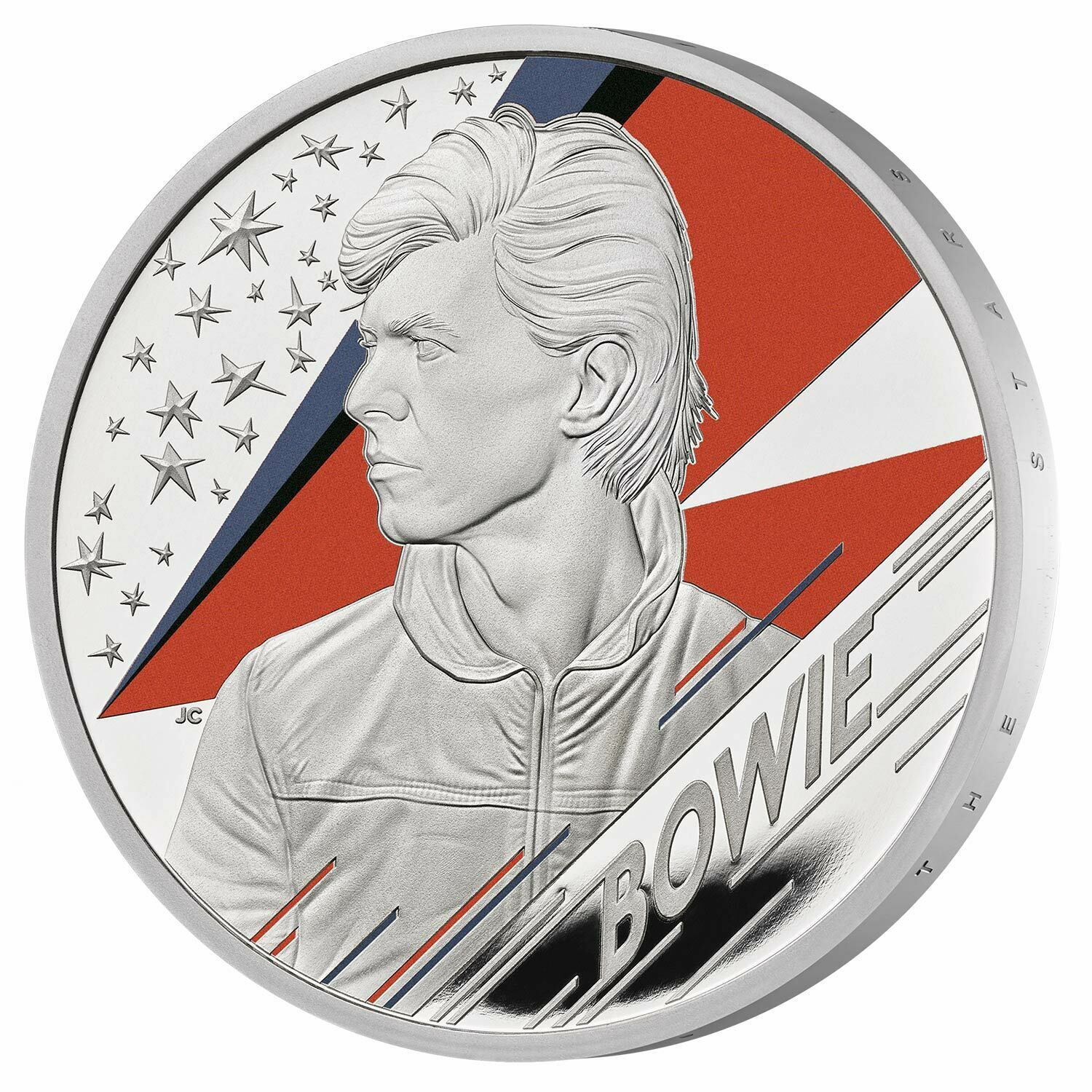 David Bowie  Music Legends 1 OZ silver  Coin Proof - zvìtšit obrázek