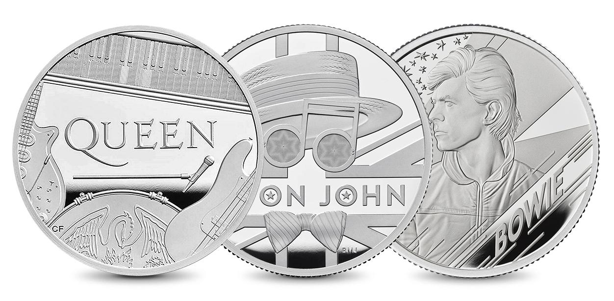 Set Music Legends - Queen, Elton John, David Bowie - zvìtšit obrázek