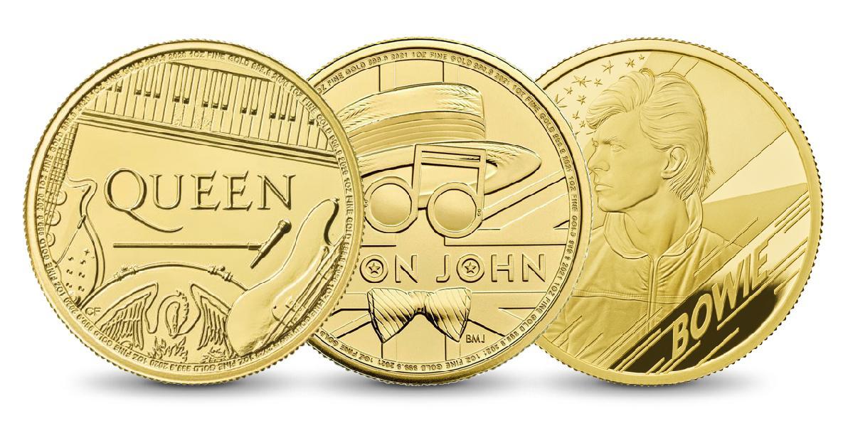 Set Music Legends - Queen, Elton John, David Bowie 3x1 Oz Gold BK - zvìtšit obrázek