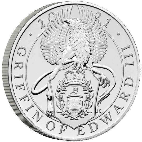 The Queens Beast - The Griffin of Edward III 5 Oz proof coin  silver - zvìtšit obrázek