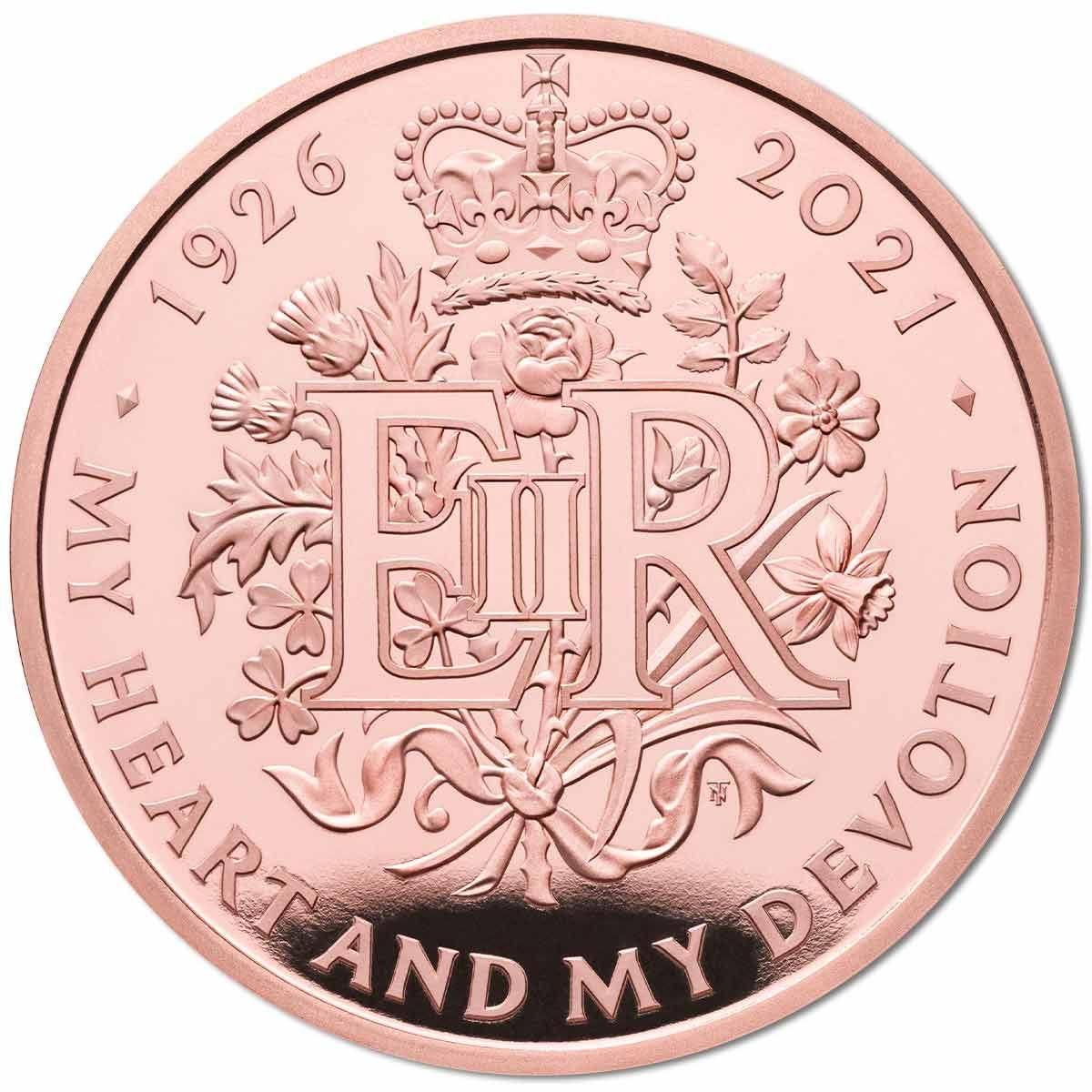 Queen Ellizabeth 95th Birthday coin gold proof 39,94gr Au - zvìtšit obrázek
