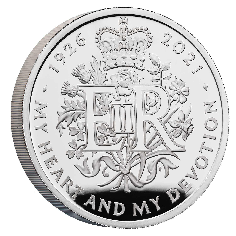 Queen Ellizabeth 95th Birthday coin silver proof 28,28gr Ag proof - zvìtšit obrázek
