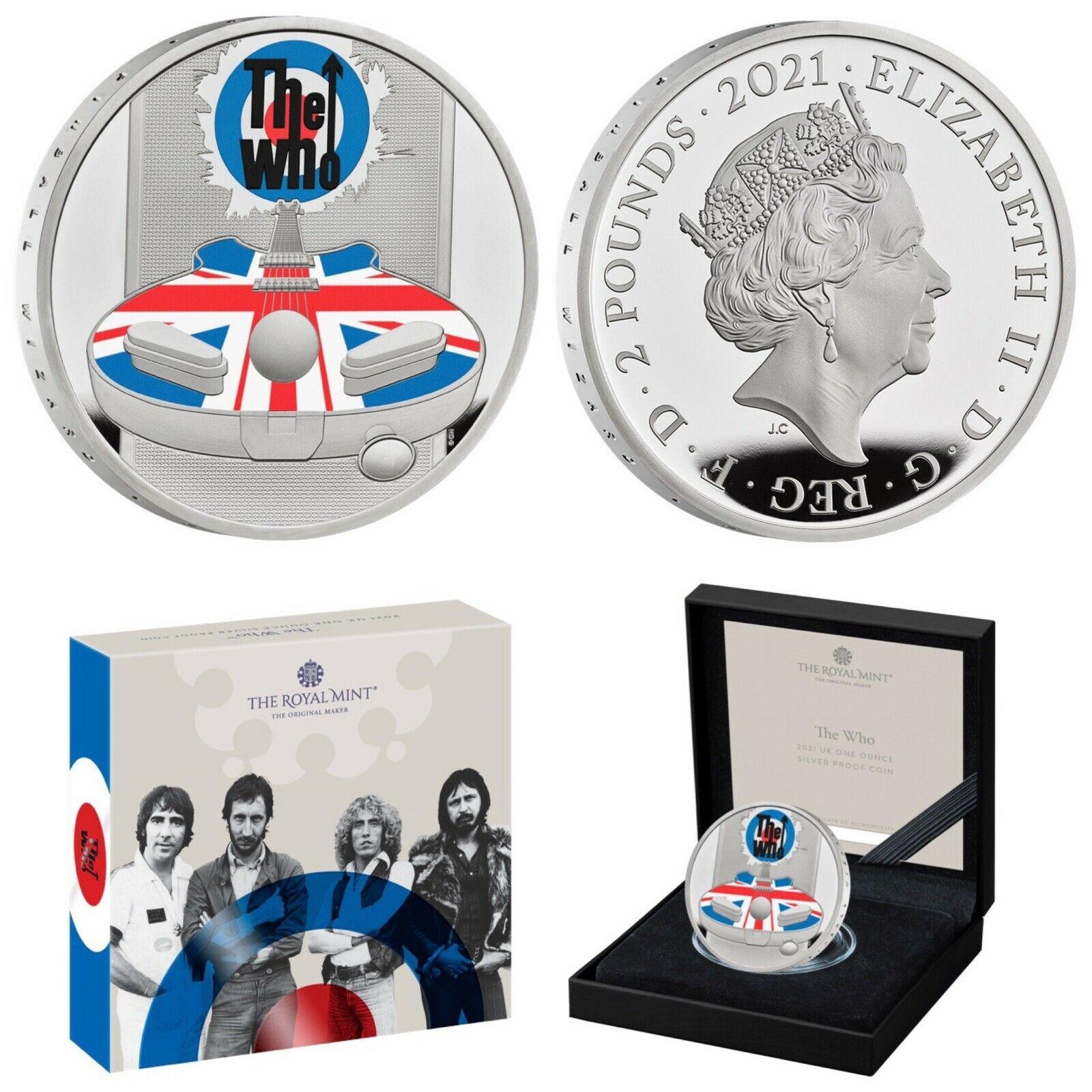 The Who Music Legends 1 Oz Ag proof coin  - zvìtšit obrázek